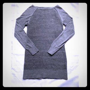 LOFT gray/silver tunic length sweater